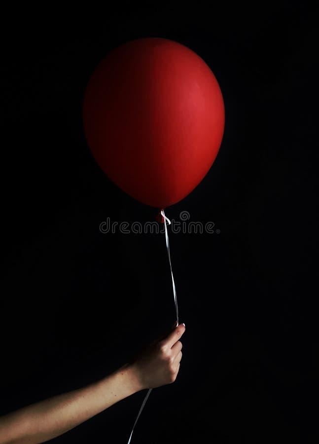 Czerwona piłka obraz stock