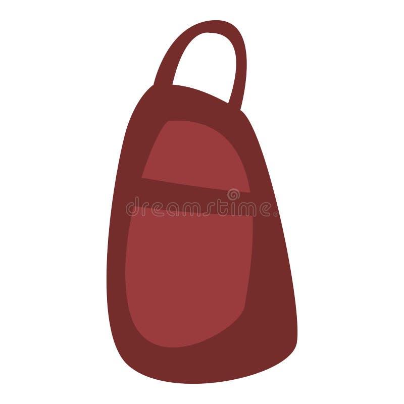 Czerwona plecak ikona, isometric styl ilustracji