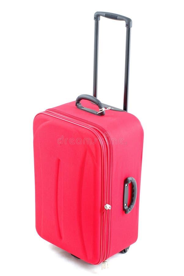 czerwona podróży torby zdjęcia royalty free