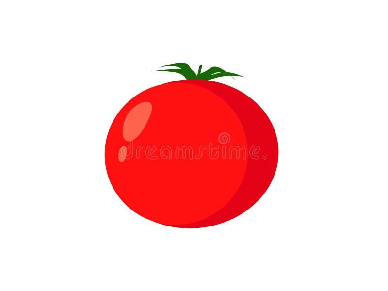 Czerwona pomidorowa jarzynowa logo ikona w mieszkanie stylu royalty ilustracja