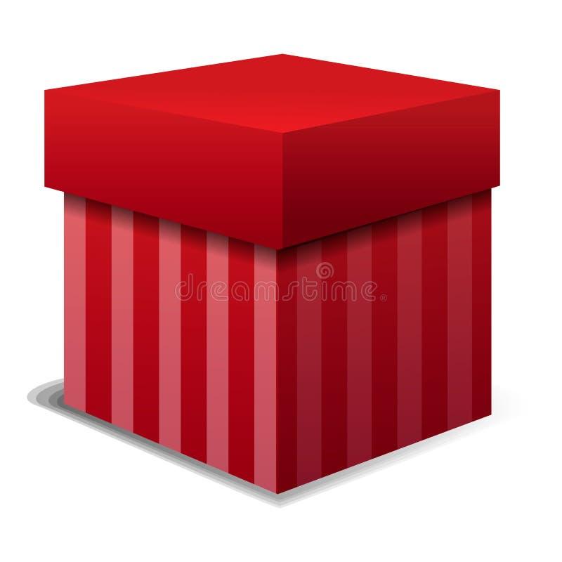 Czerwona prezenta pudełka ikona, kreskówka styl ilustracja wektor