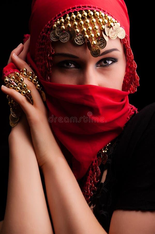 czerwona przesłona fotografia stock