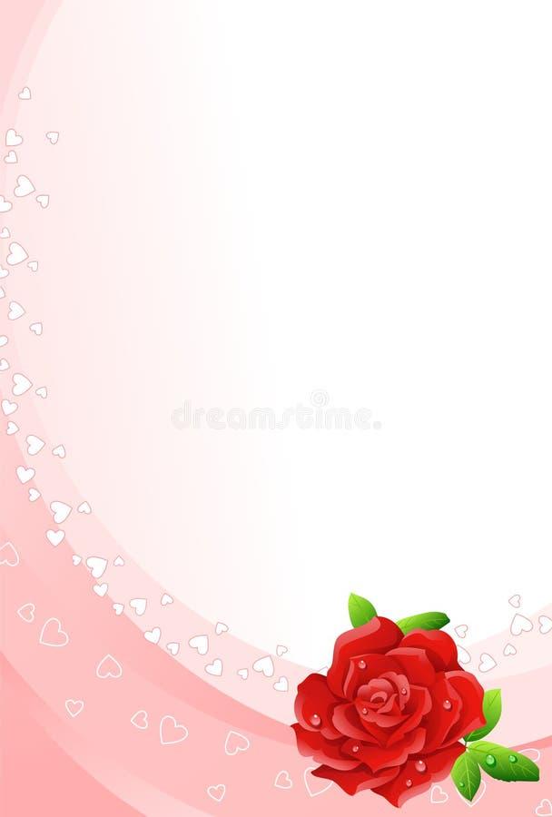 czerwona róża tło ilustracja wektor