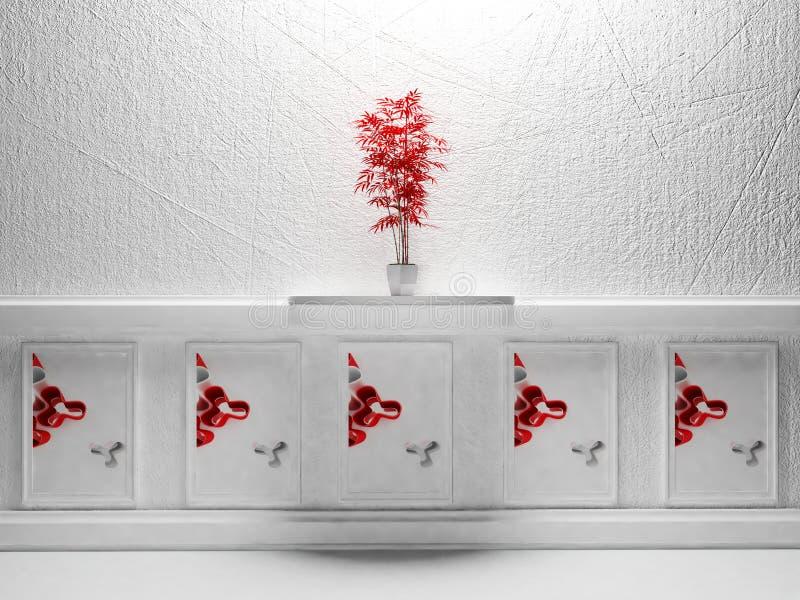 Download Czerwona roślina ilustracji. Ilustracja złożonej z niezrównoważenie - 41954739