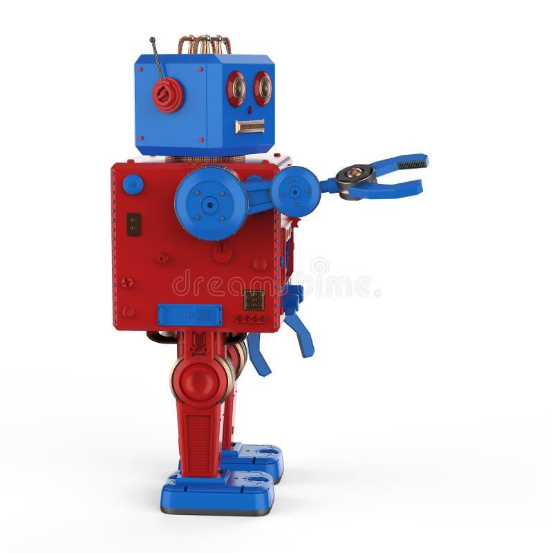 Czerwona robot cyny zabawka ilustracji
