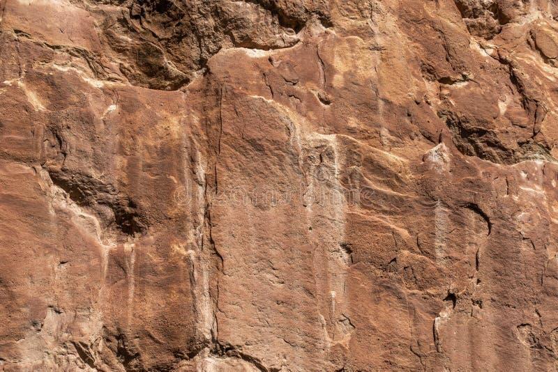 Czerwona rockowej formacji kamienia tła tekstura fotografia stock