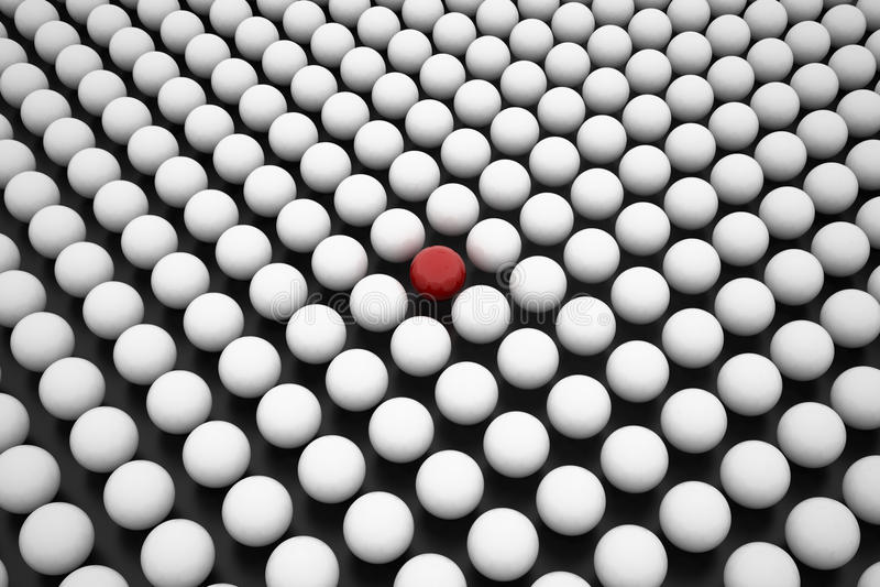 Czerwona Sfera między Szykiem Biały Sfery ilustracji