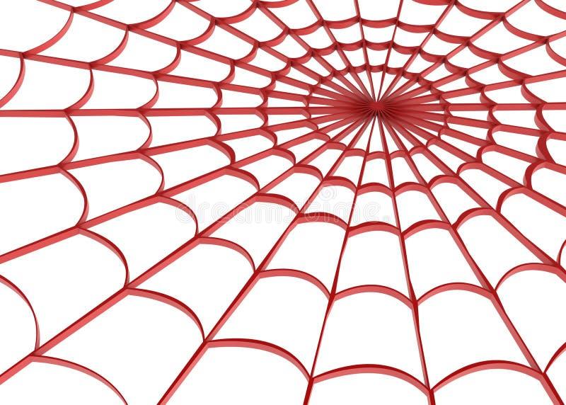 czerwona sieci ilustracja wektor