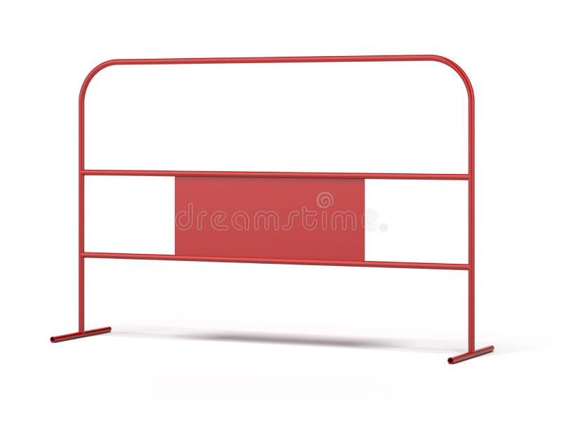 Czerwona stalowa bariera ilustracja wektor