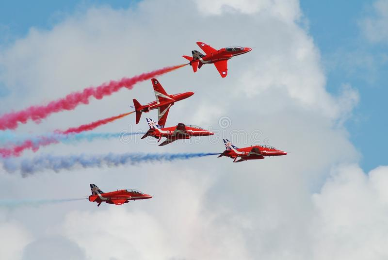 Czerwona strzała drużyna, Powietrzna zdjęcia royalty free