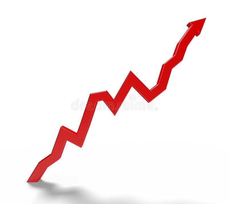 Download Czerwona Strzała Wskazuje Up Zdjęcie Stock - Obraz złożonej z arrowed, śledzony: 65226258