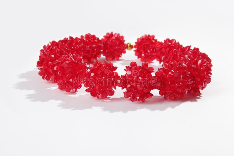 Czerwona szklana kolia obrazy royalty free