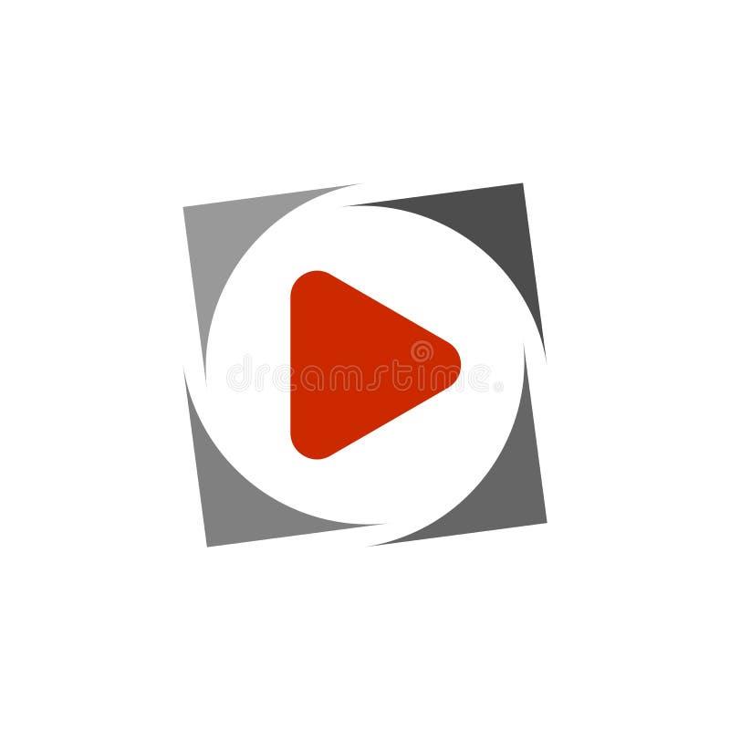 Czerwona sztuka guzika ikona ilustracja wektor