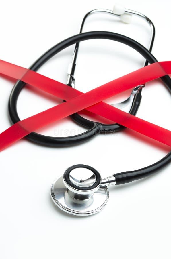 Czerwona taśma opieka zdrowotna obraz royalty free