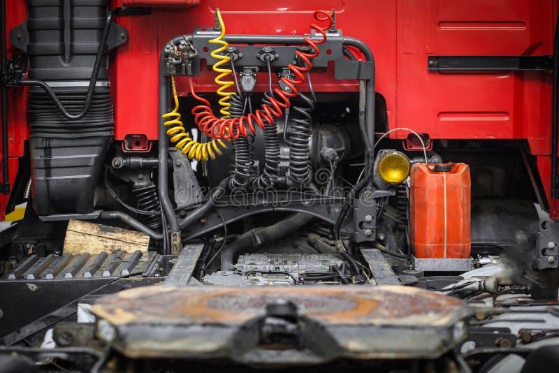 Czerwona taksówka ciężarówka zdjęcie stock