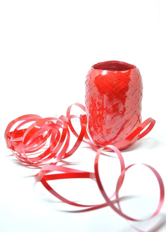 czerwona tasiemkowa rolka obrazy royalty free
