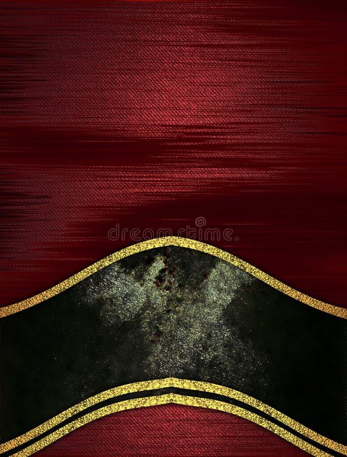 Czerwona tekstura z czarną dekoracją Szablon dla projekta odbitkowa przestrzeń dla reklamy broszurki lub zawiadomienia zaproszeni royalty ilustracja