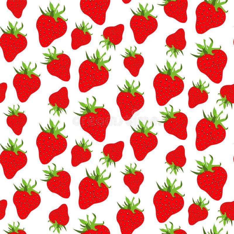 CZERWONA TRUSKAWKOWA sezon owoc tekstura abstrakcjonistyczny deseniowy bezszwowy wektor ilustracji