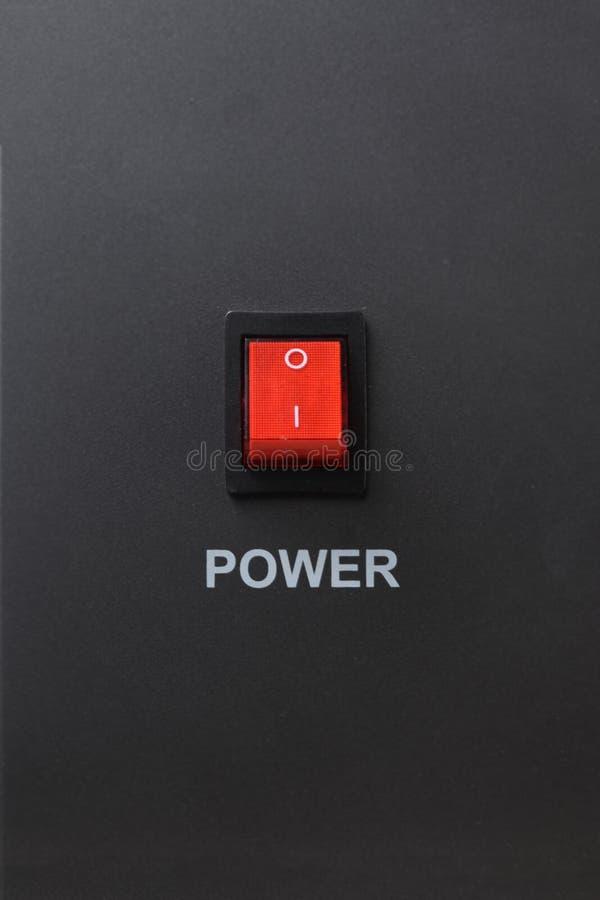 Czerwona władzy zmiana obraz stock