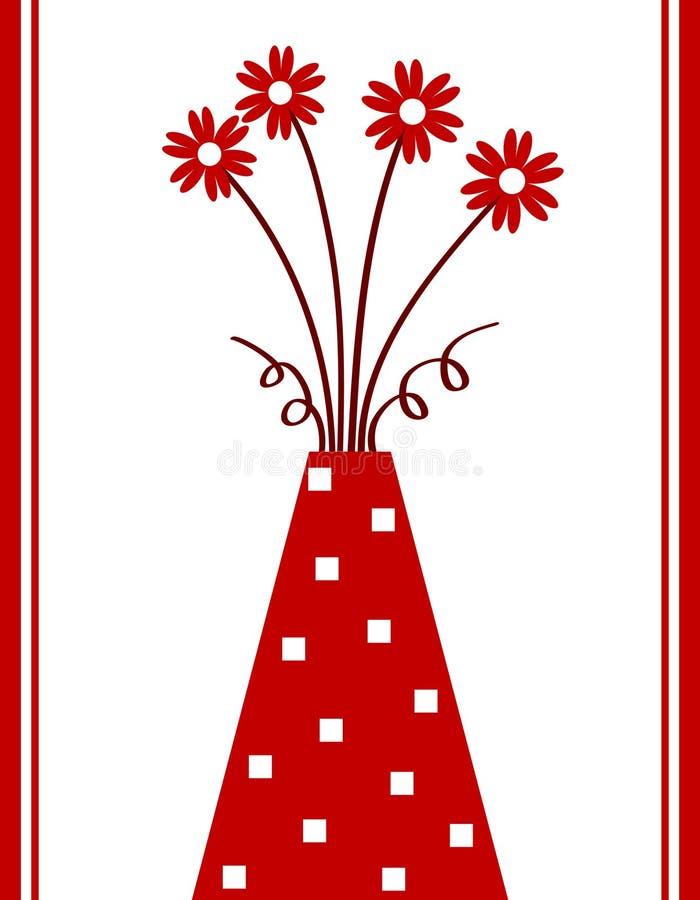 czerwona waza royalty ilustracja