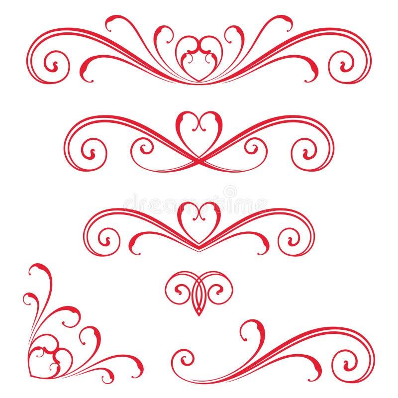 Czerwona Wektorowa ślimacznica ilustracja wektor