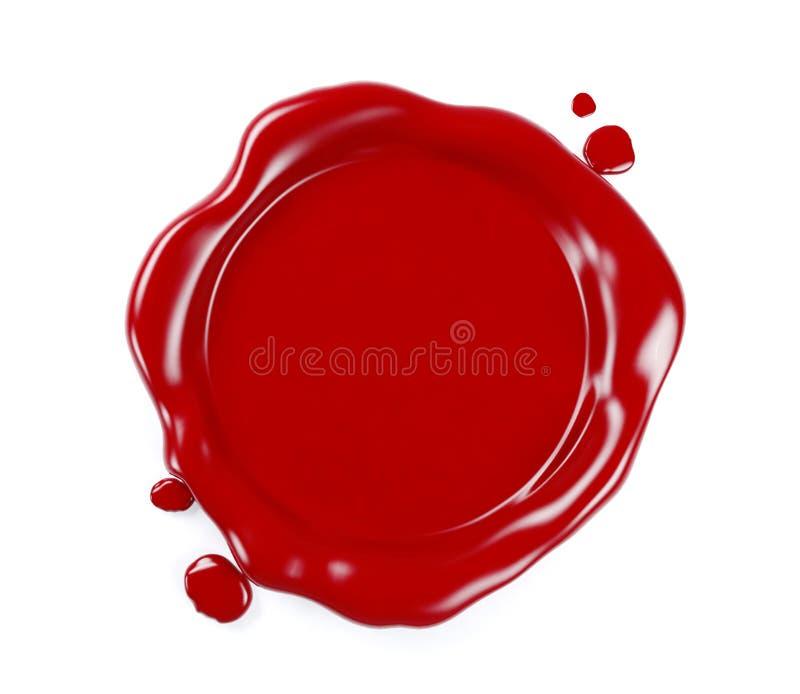 Czerwona wosk foka odizolowywająca na białym tle, 3D rendering ilustracja wektor