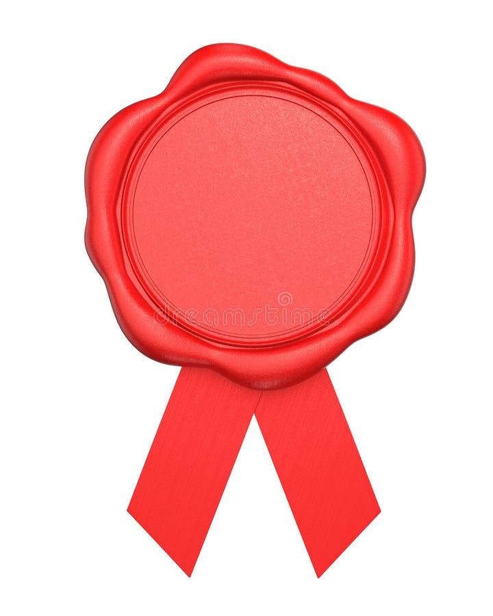 Czerwona wosk foka z pustą przestrzenią odizolowywającą na białym tle obraz royalty free
