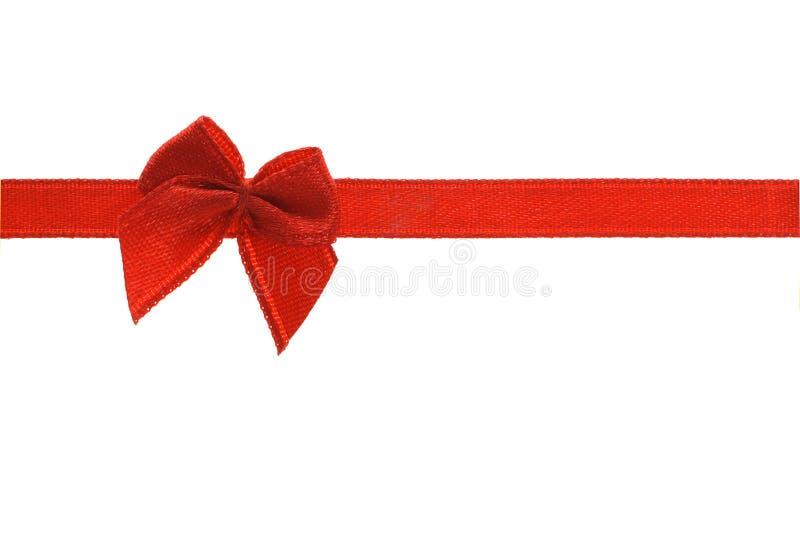 czerwona wstążka dziobu dekoracyjny fotografia royalty free