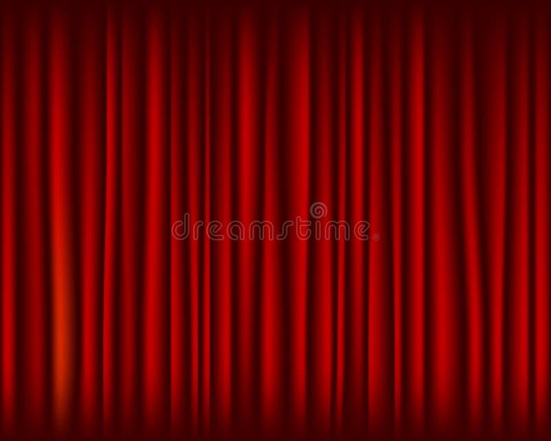 Czerwona zasłona dla sceny bezszwowej tekstury royalty ilustracja