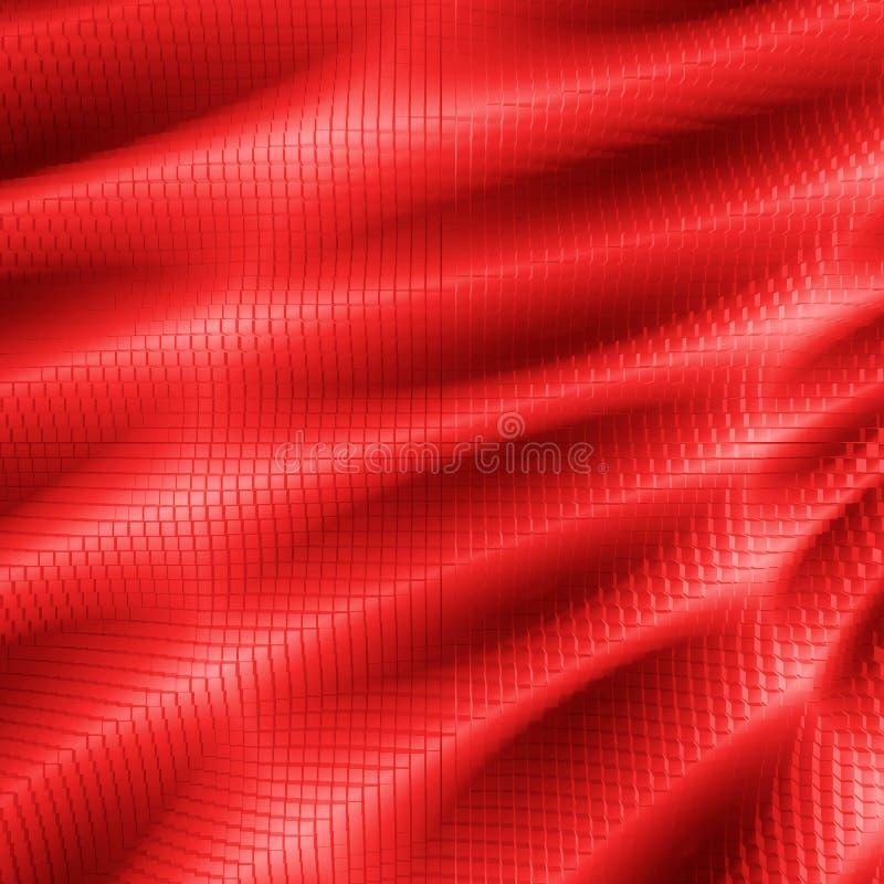 czerwone światło sześcianu ilustracji