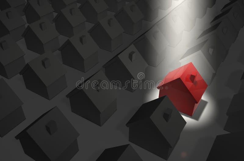 czerwone światło w domu top ilustracja wektor