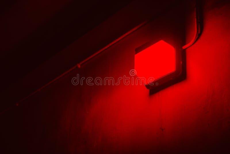 Czerwone światło w fotografii przerobowym Darkroom zdjęcia royalty free