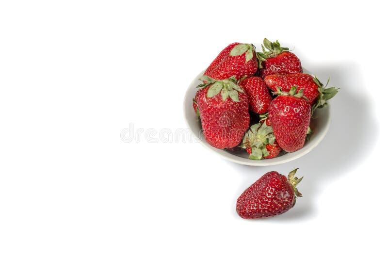 czerwone świeże truskawki fotografia royalty free
