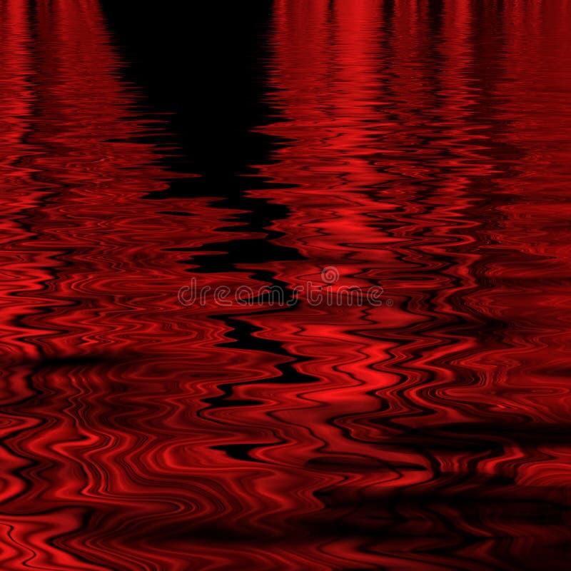 czerwone abstrakcyjnych fale royalty ilustracja