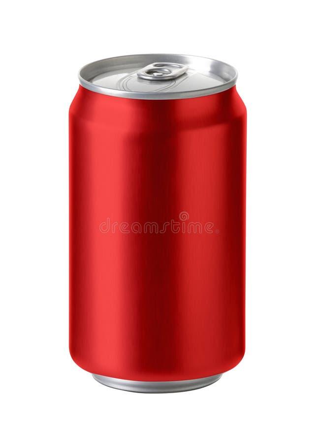 Czerwone aluminiowe puszki, Realistyczny fotografia wizerunek fotografia stock