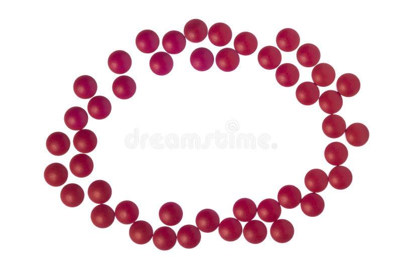 Czerwone Bólowego zastępującego pastylki Jako granica Z kopii przestrzenią obrazy stock