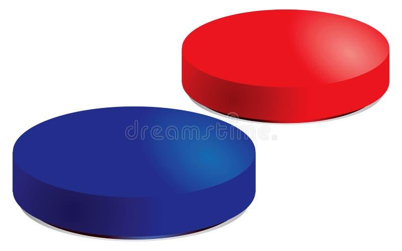 czerwone błękitny pigułki ilustracji
