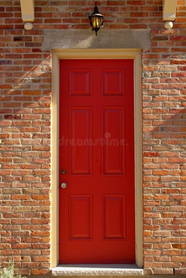 czerwone drzwi obraz royalty free