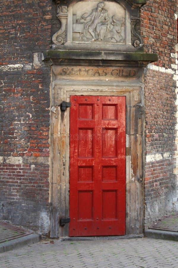 czerwone drzwi obrazy stock
