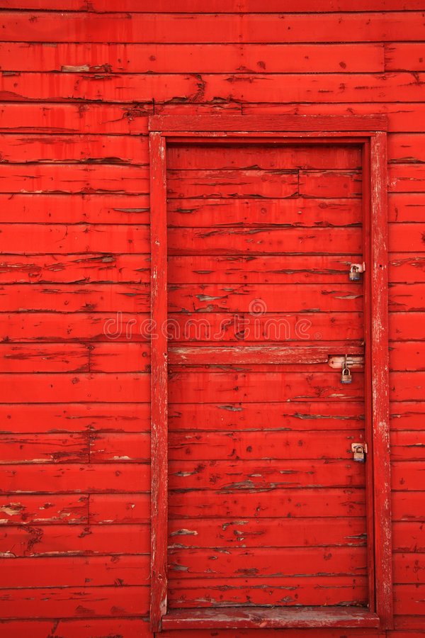 czerwone drzwi stodoły obraz stock