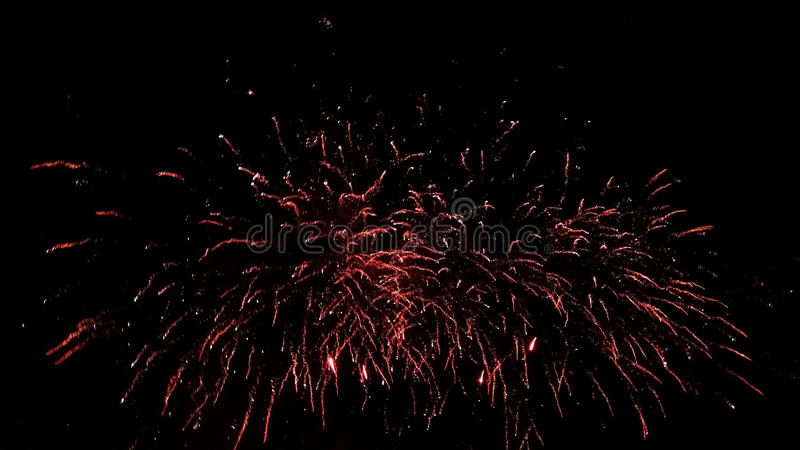 czerwone fajerwerki zdjęcie stock