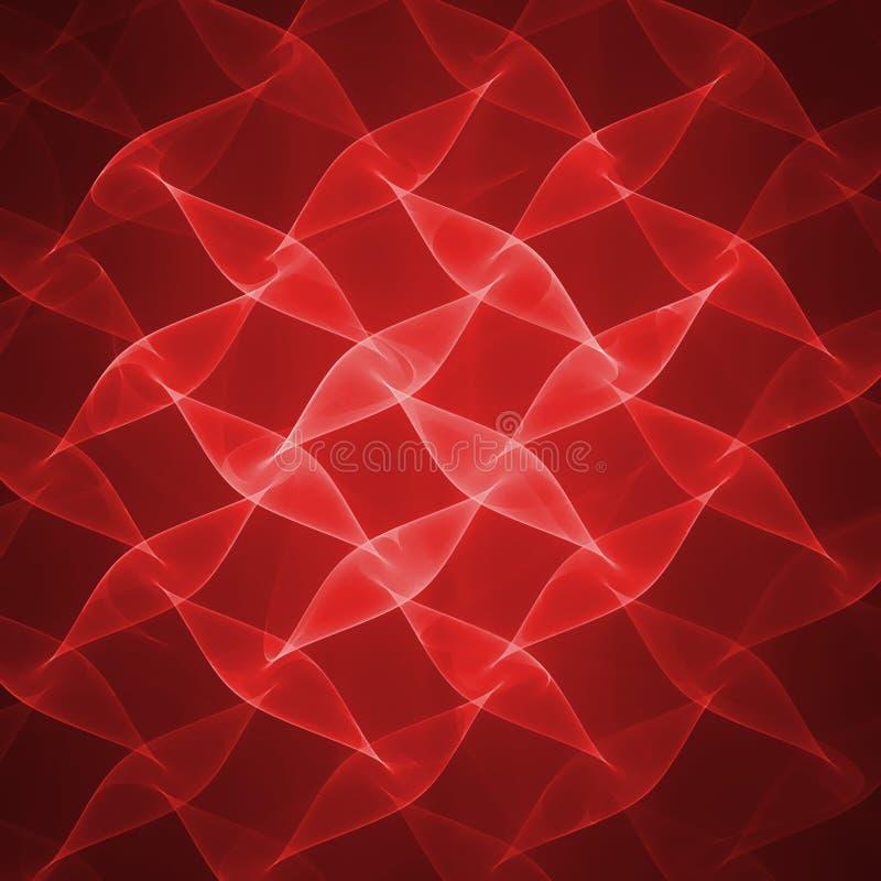 czerwone fale ilustracji