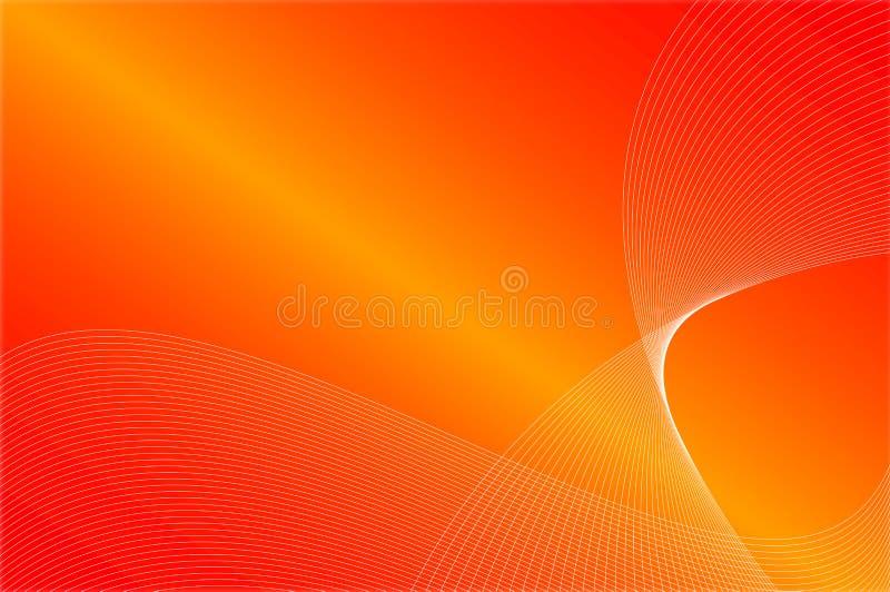 czerwone fale pomarańczowej zdjęcie stock