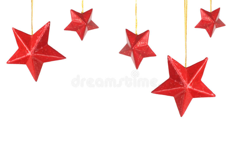 czerwone gwiazdy zdjęcie stock