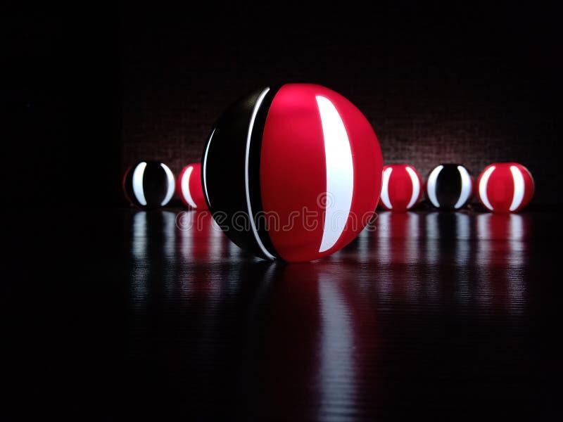 Czerwone i czarne sfery zdjęcie stock