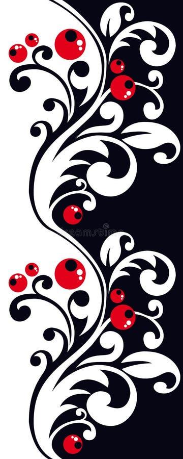 Czerwone jagody royalty ilustracja