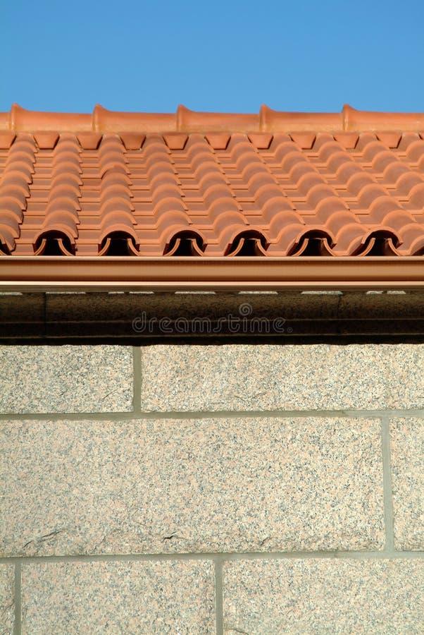 czerwone kafelki większy dach zdjęcia stock