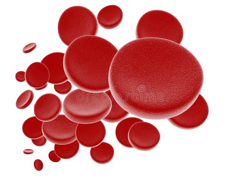 Czerwone komórki krwi ilustracji