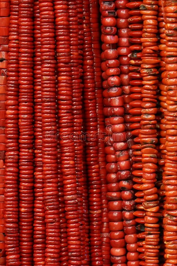 Czerwone koralik kolie fotografia stock