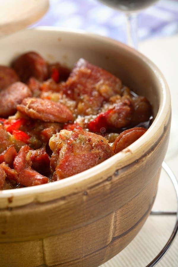 czerwone mięso pieprzowa fotografia stock